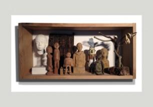 Bois, terre, plâtre… Format : 710 x 340 x 180 mm