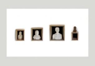 Installation Format : 2500 x 1200 mm Plâtres, bois, bronze, tissus Mai 2012 - Nantes
