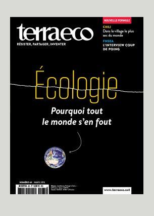 Conception graphique et direction artistique Photo de une : NASA Éditeur : Terra economica SAS Volume : 84 pages Format : 200 x 265 mm Périodicité : mensuelle En charge de la production du magazine Terra eco depuis Mai 2006.